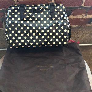 Kate Spade B&W Polka Dot Patent Leather Purse